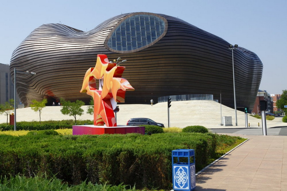 General view of Ordos in China, named the world's largest Ghost City