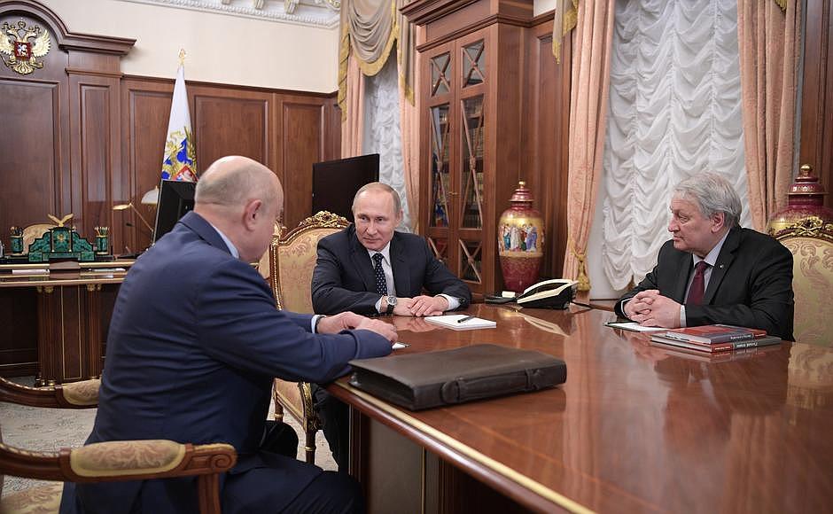 Встреча с Михаилом Фрадковым и Леонидом Решетниковым