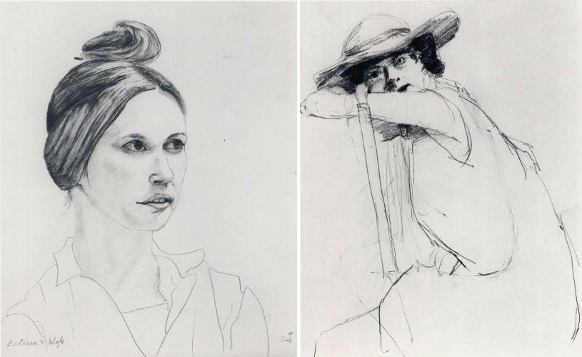 Дабни Зортиан, 1964 + Женский портрет.png