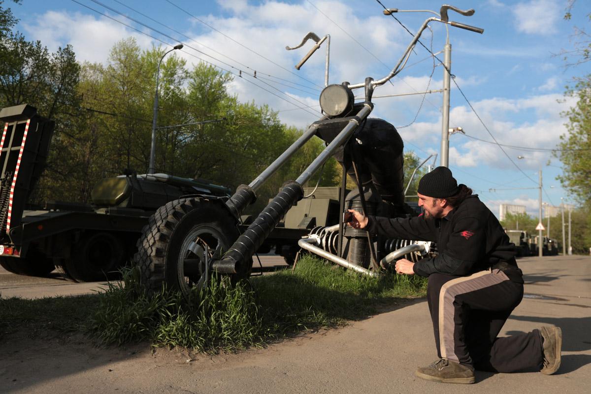 Главный байкер страны Хирург (Александр Залдостанов) не смог пропустить такое масштабное событие и б