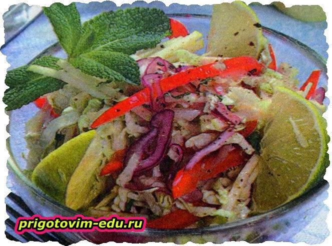 Майский салат к шашлыку