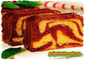 «Мраморный» шоколадный кекс