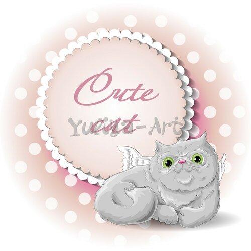 cute cat angel