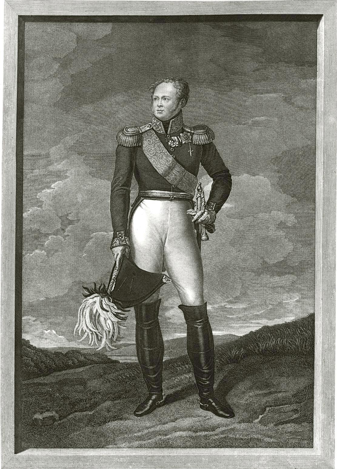 117. Портрет Александра I в рост, писанный с него в Париже в 1815 г.