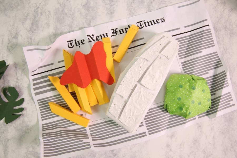 Inventive Paper Food From All Around the World