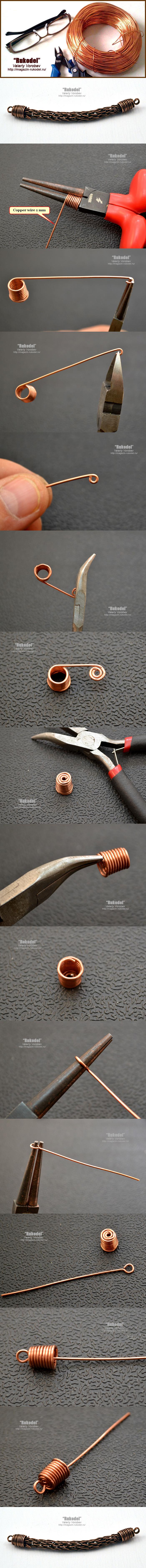 Концевики для бижутерии своими руками.