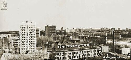 Боровский проезд, дом 24 (станция Солнечная) - балкон 10 этажа. Примерно 1985 год. #Солнцево