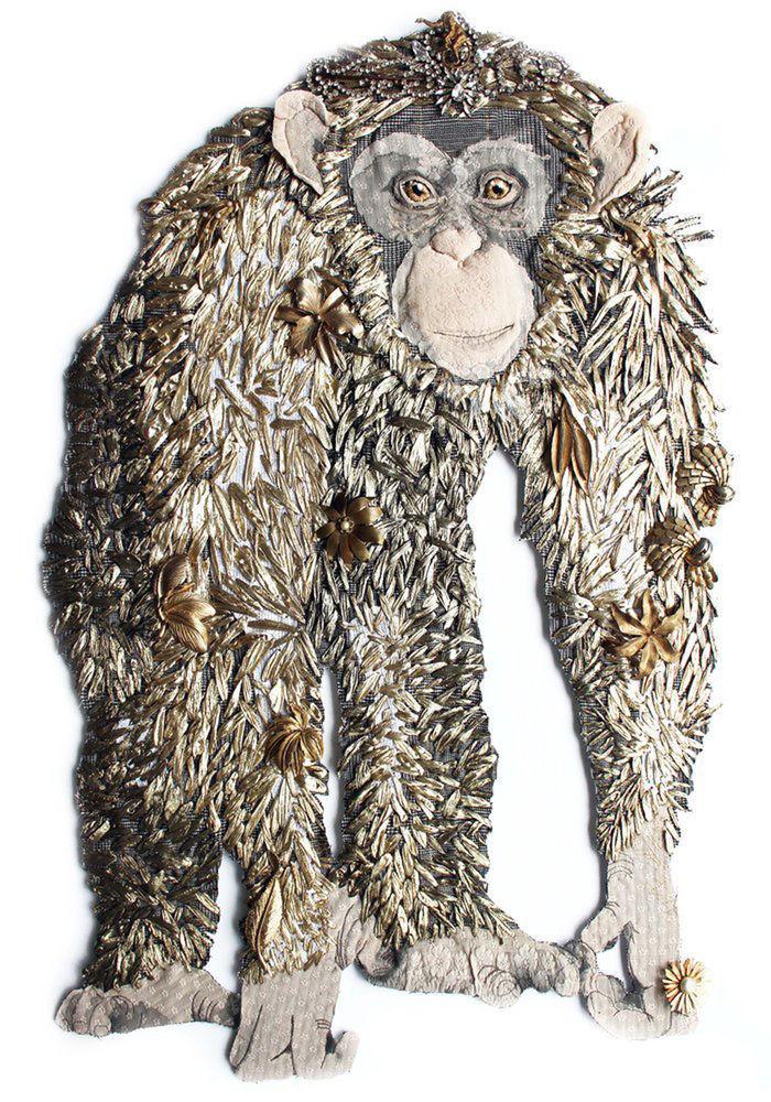 Карен Николь. Вышитый мир необычных животных.