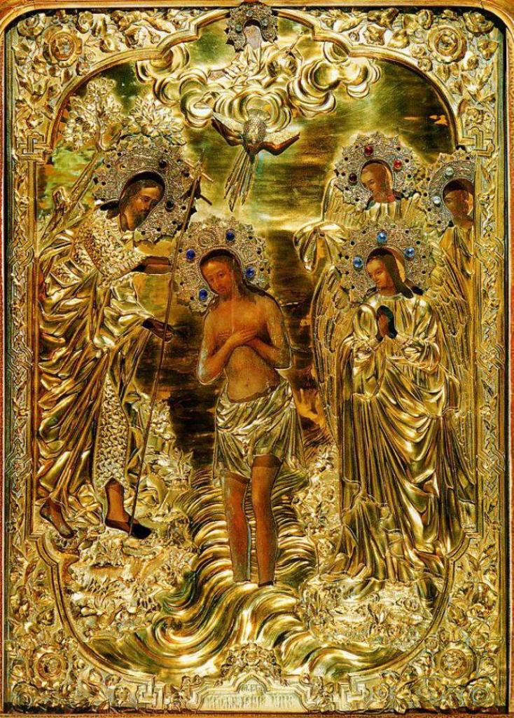 Икона Богоявление Господне - Крещение 19 века в Елоховском Богоявленском храме.