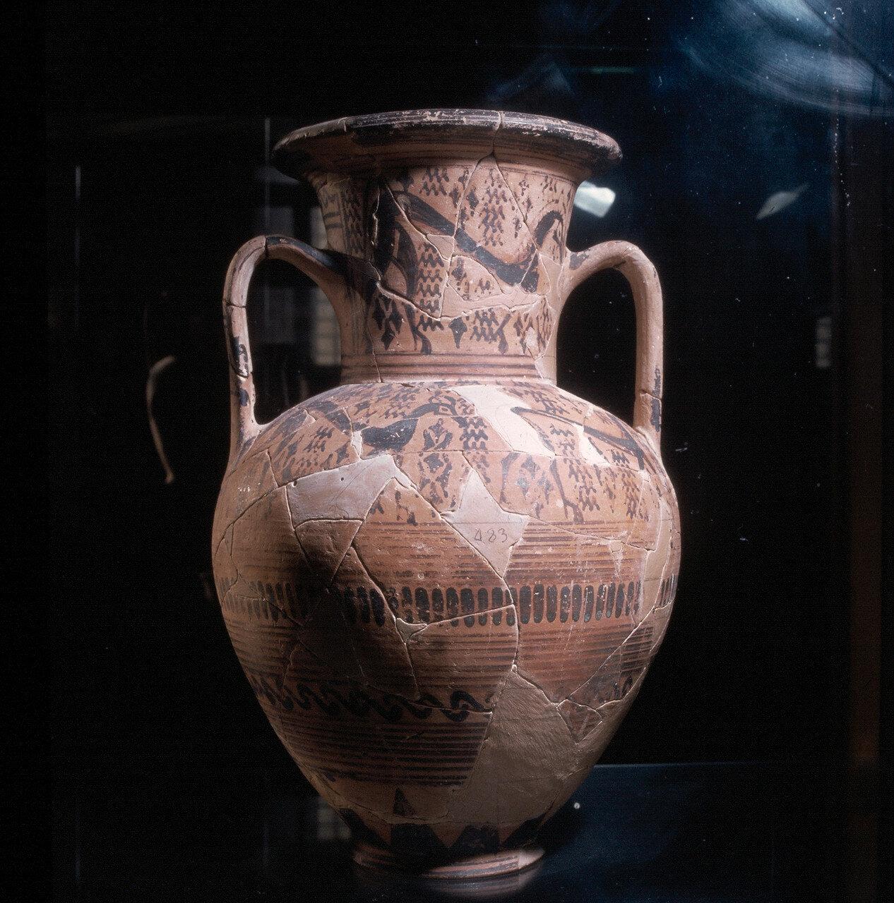 Миконос, Археологический музей. Амфора начала VII в. до н.э.