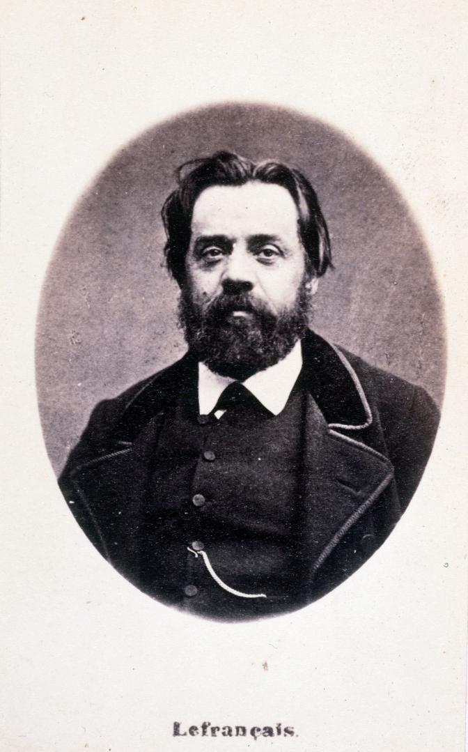Гюстав Лефрансе (1826—1901)  - французский революционер, левый прудонист, по профессии учитель, участник революции 1848 г., с конца 60-х годов член Интернационала, член Парижской Коммуны