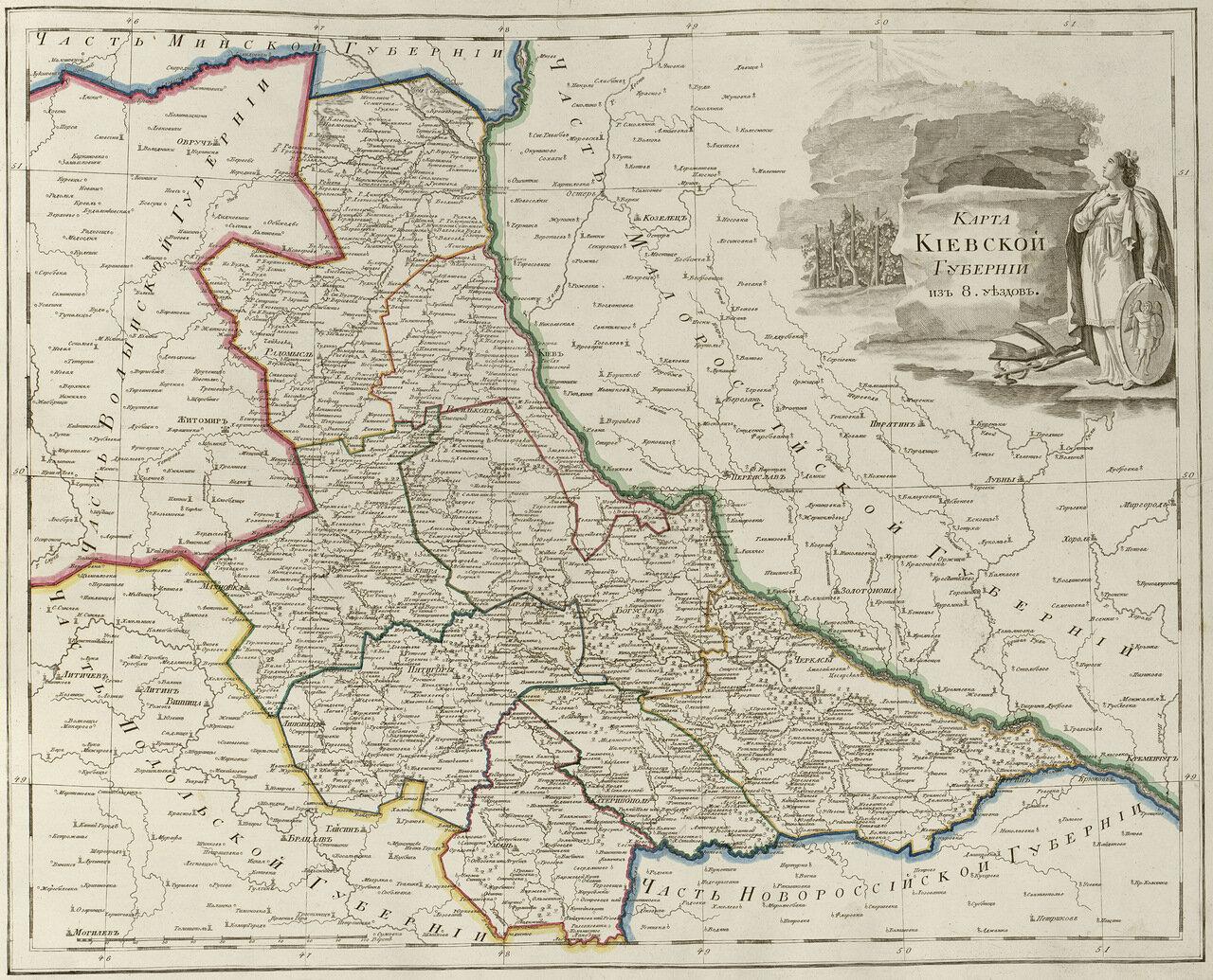 39. Карта Киевской губернии