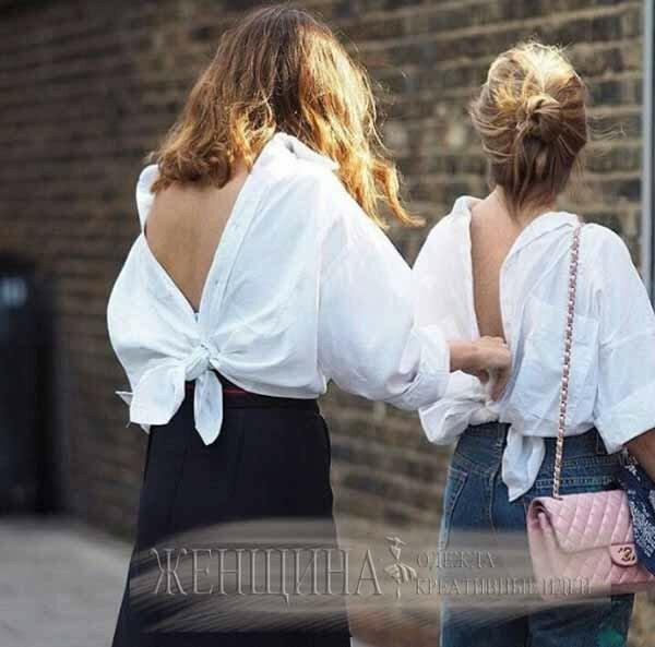 Новый писк моды Рубашка задом наперед сайт Модная Ты от Marina Dani