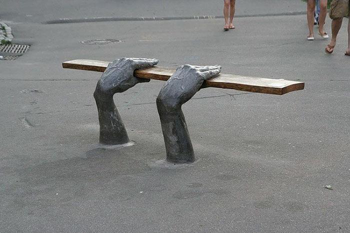 Скамейка в Киеве.