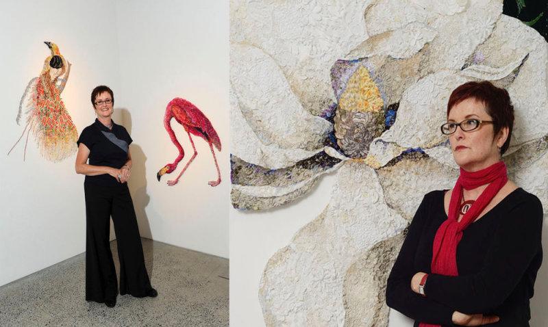 Работы Луизы Сакстон с 2008 года участвовали в биенналеАвстралии и после выставлялись в Малай