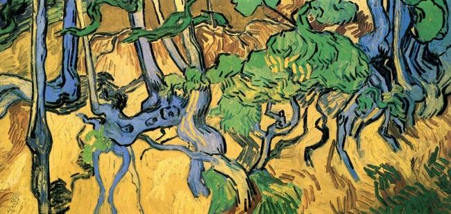© wikipedia.org  «Корни деревьев», 1890 Последняя картина Ван Гога кажется абстрактной, нопос