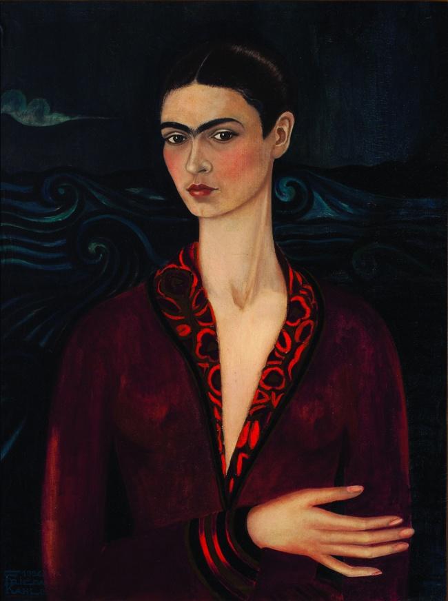 © wikiart.org  «Автопортрет вбархатном платье», 1926 Этот автопортрет считается одной ихперв