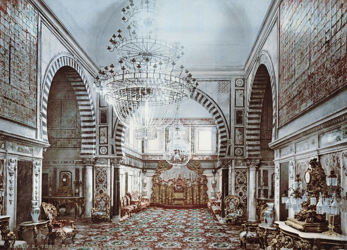 Судебный зал дворца Бардо, Тунис.