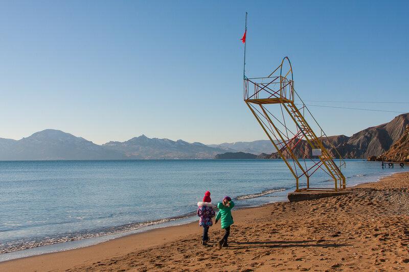 Спасательная вышка на пляже Орджо