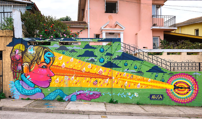 Mural Paintings from Valparaiso by Damien Tachoires