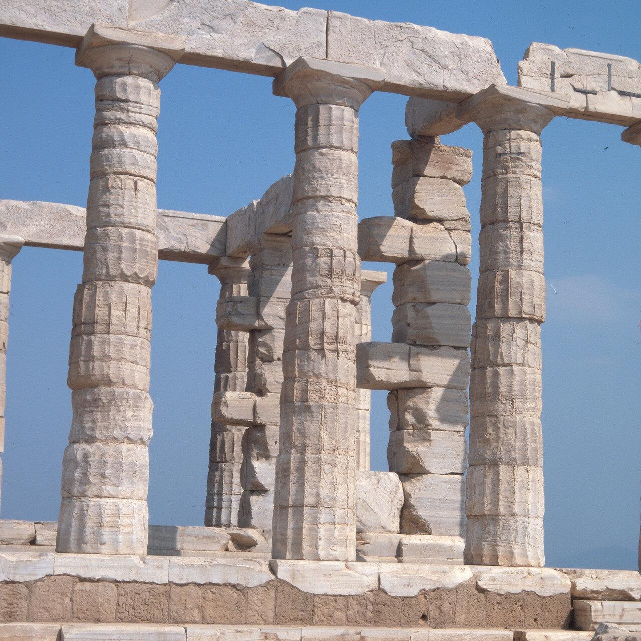 Храм Посейдона. Мраморные колонны
