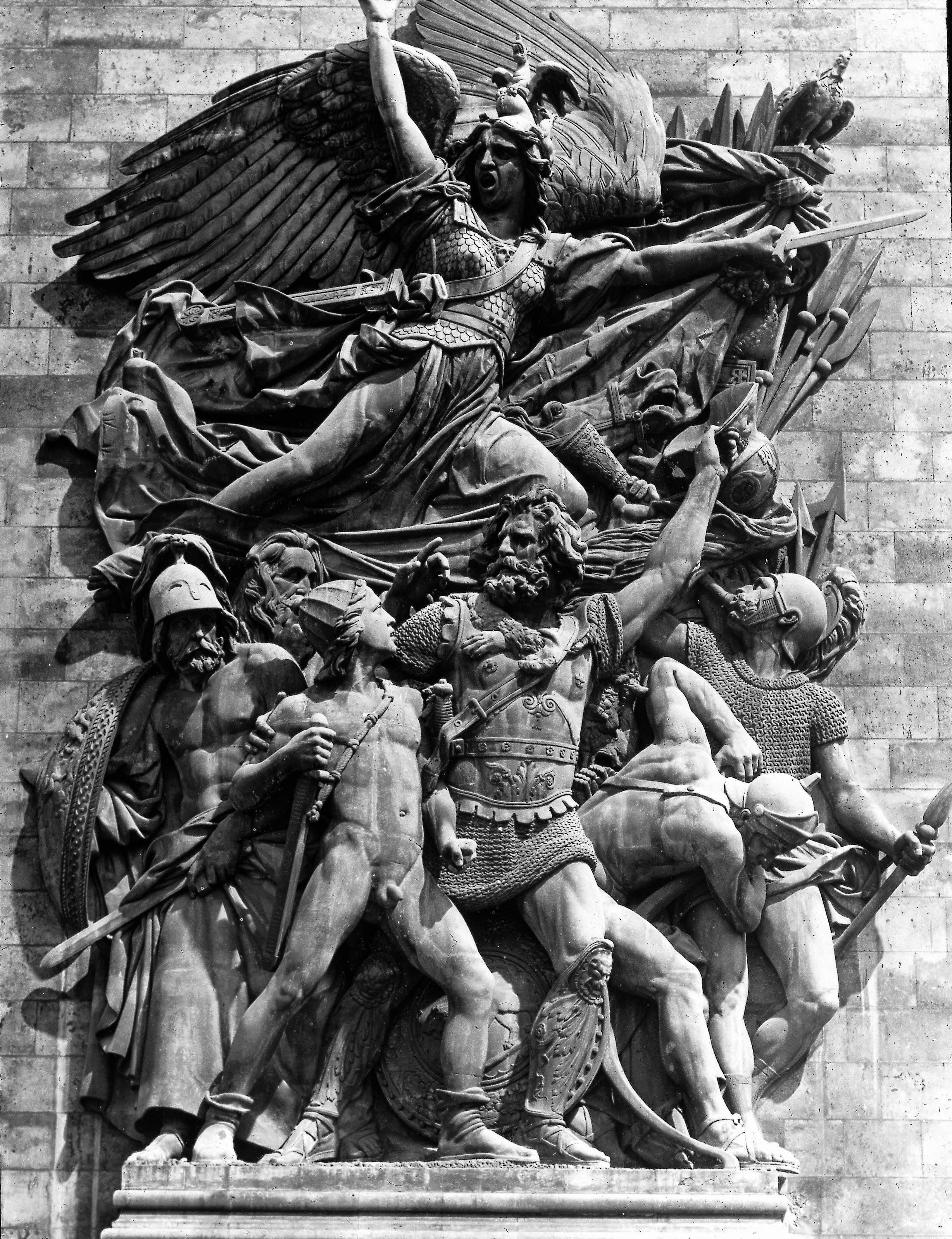 Площадь Этуаль. Триумфальная арка. Скульптура Марсельеза