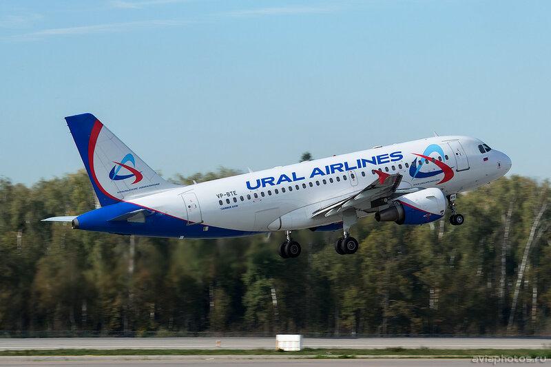 Airbus A319-112 (VP-BTE) Уральские Авиалинии 001_D801044