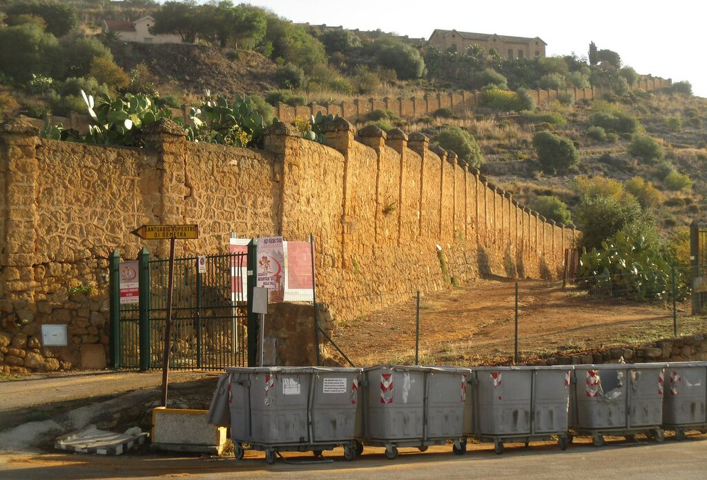 Agrigento. Panoramic road of the Valley of the temples (Via Panoramica Valle dei Templi)