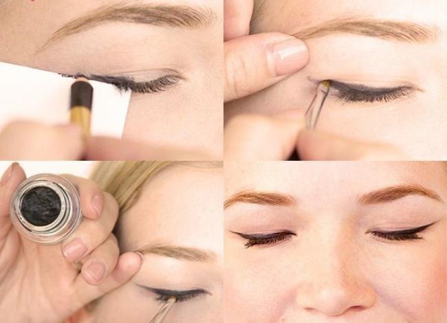 © pinterest  Чтобы глаза казались более «открытыми», нанесите немного золотистых теней набров