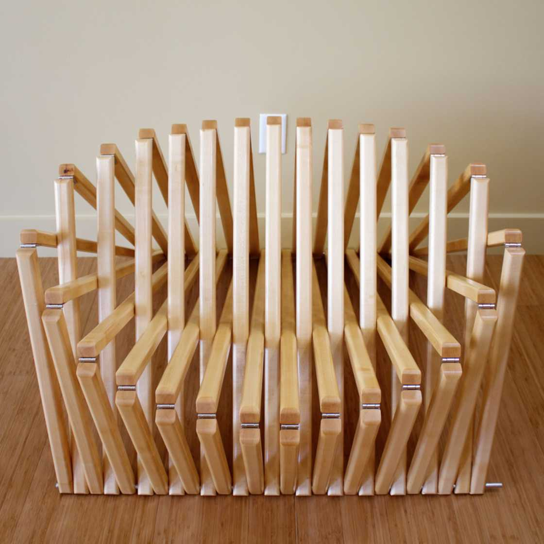 Amazing chairs that switch from 2D to 3D in less than a second