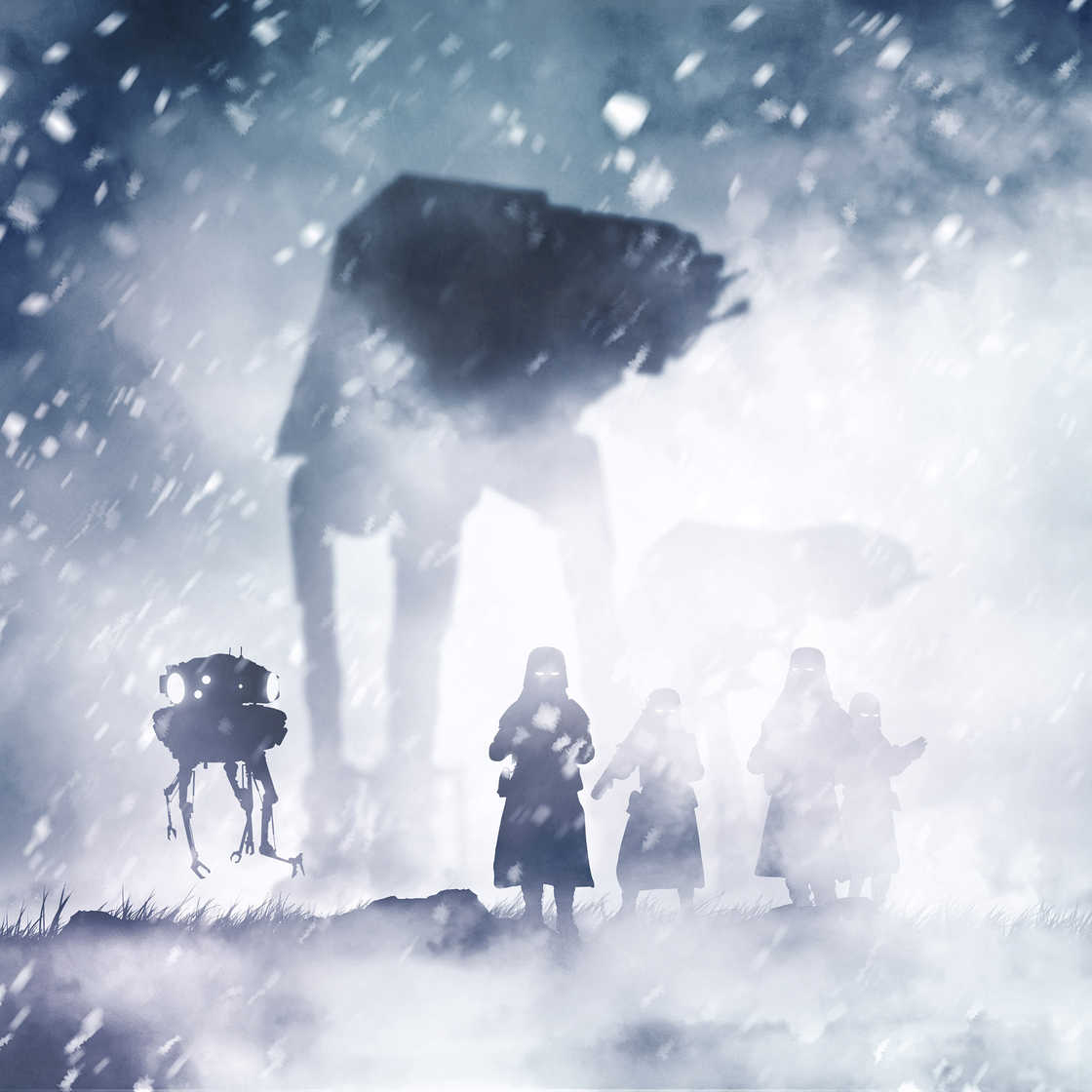 Star Wars Cosmos - These awesome photos are mixing toys and paper art