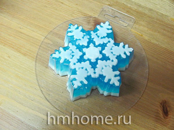 Мыло ручной работы «Снежинка»
