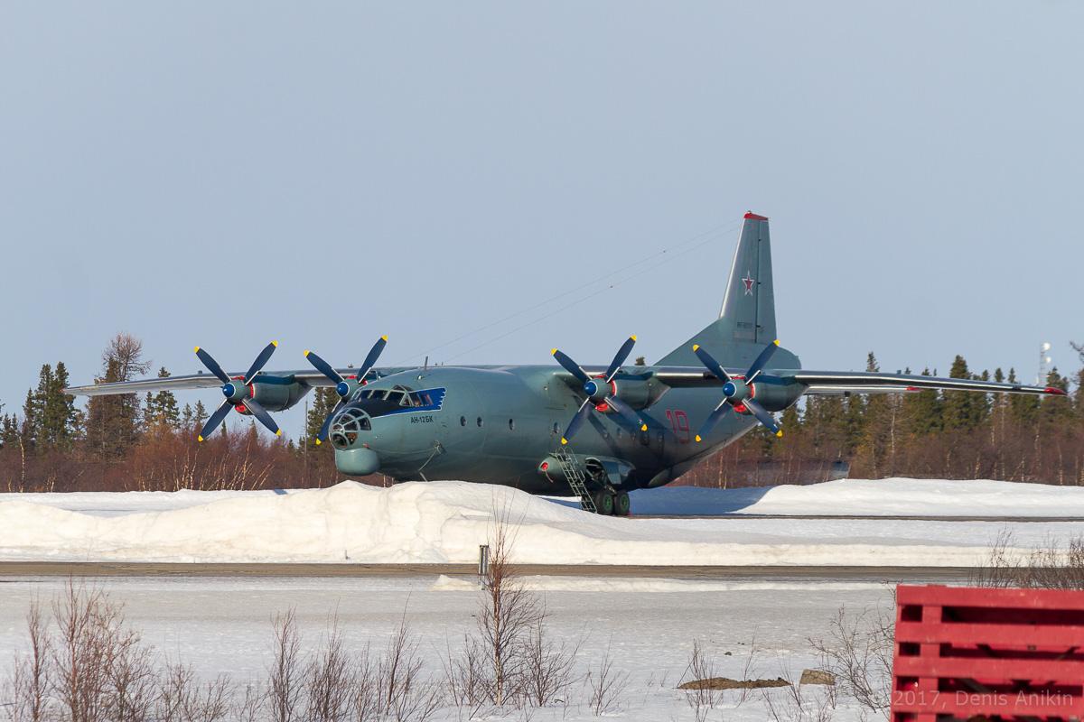самолёт Ан-12БК RF-90787 ВКС России