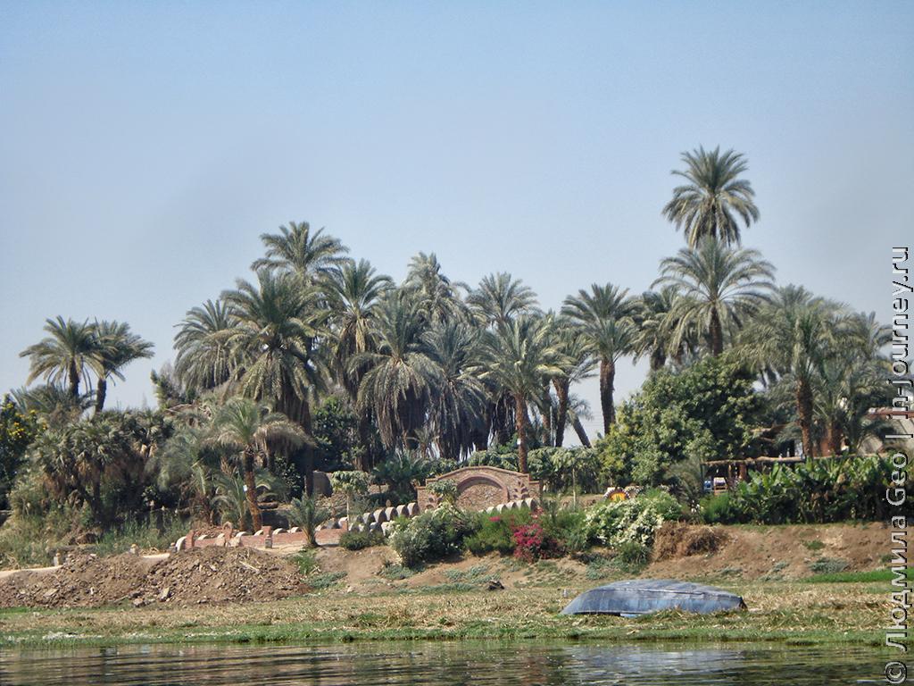 местный пейзаж река Нил