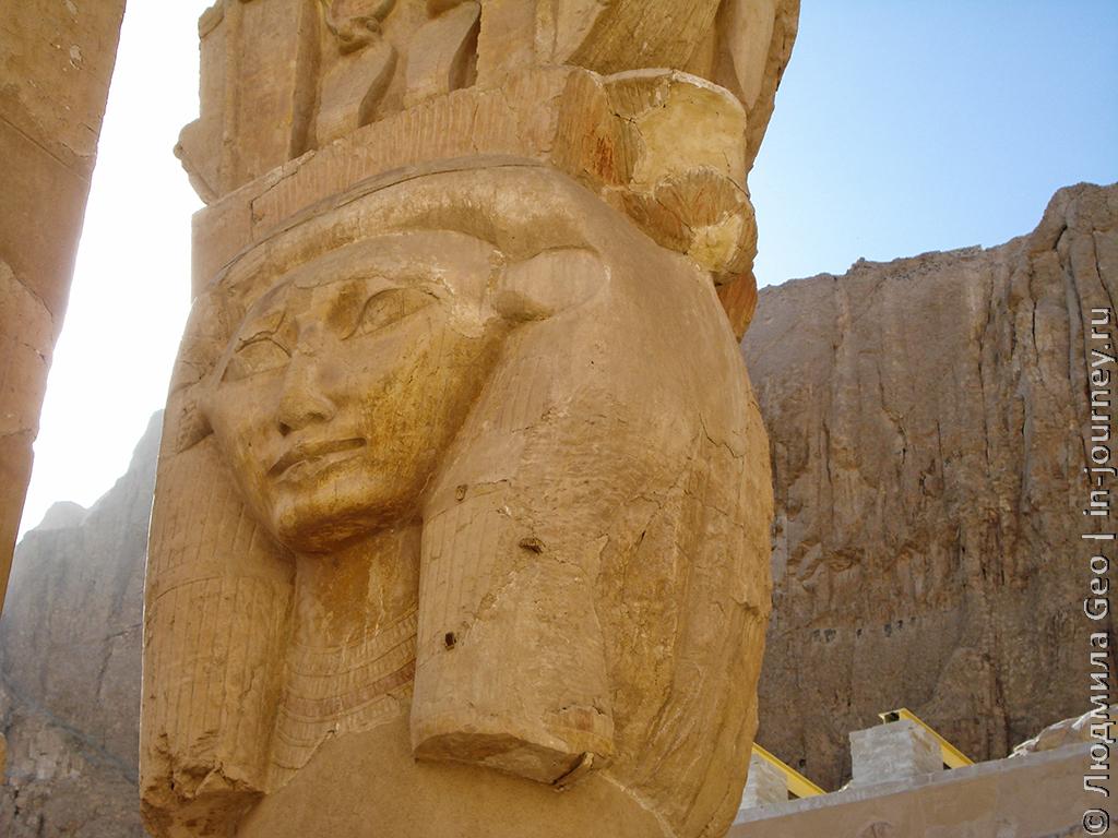 царица Хатшепсут скульптура в храме