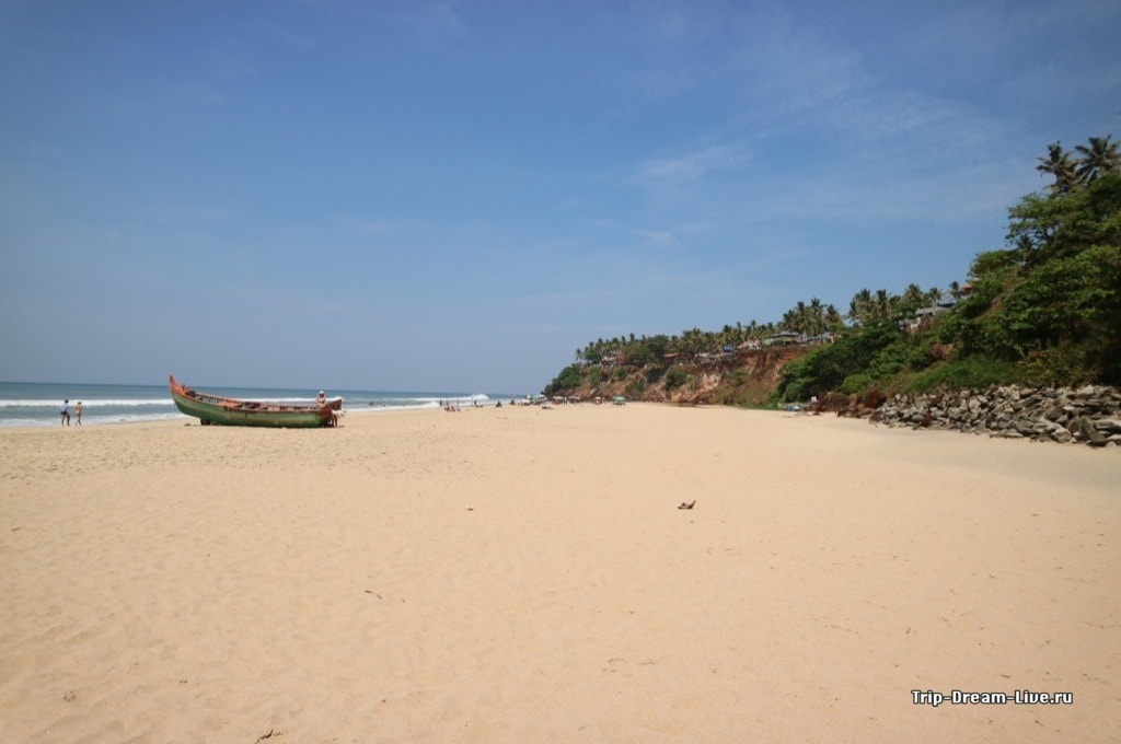 Пляж Варкала, штат Керала, южная Индия