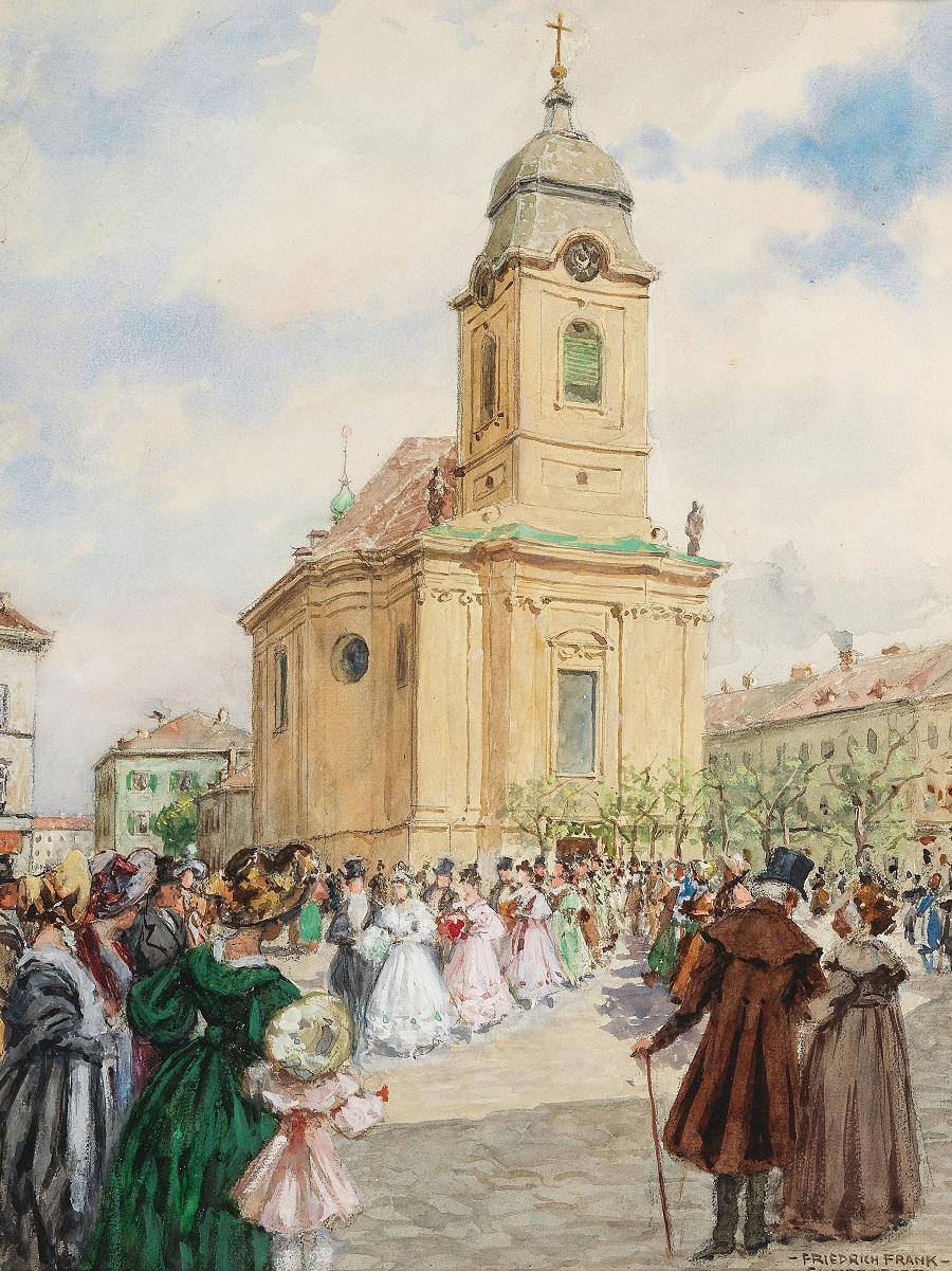 Аукционно-Акварельно-Архитектурное в коллекцию... Художник Friedrich Frank (2)