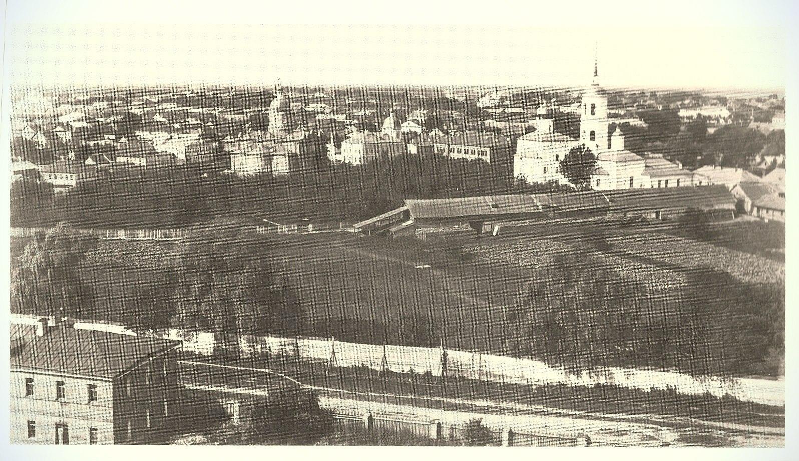 Панорама Спасо-Преображенского монастыря с северо-востока. 1892 год.