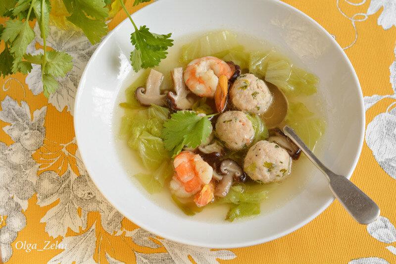 Капустный суп с шиитаке