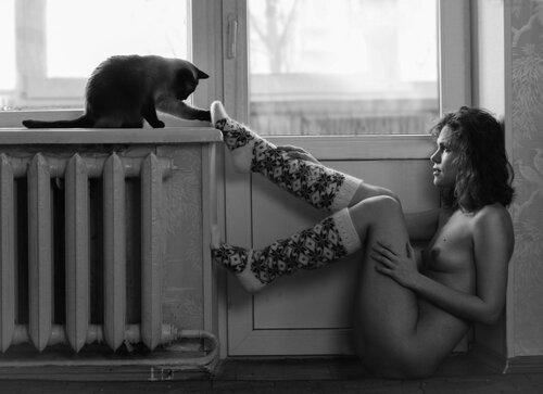 Девушки и кошки. 18+