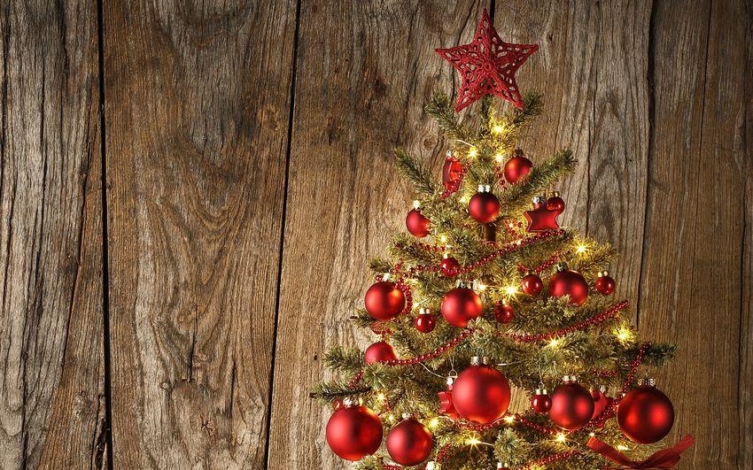 Новогодняя ёлка, фоны, праздник, игрушки, украшения