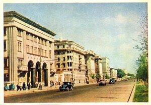 Москва. Ленинградское шоссе. Фото А. Гостева. Правда, 1957, 350 тыс.jpg