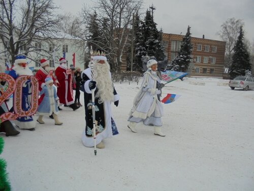 Шоу-парад Дедов Морозов
