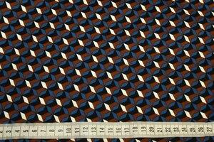 ДХС124  550руб-м Хлопок стрейч с печатью типа джинсы,фон молочный.Мягкая, приятная на ощупь,плотная,держит форму. Подойдет для жакетов, юбок, платьев,брюк,летних пальто.Хл-к 97%,эл 3%.Шир. 1,44м  (2).JPG