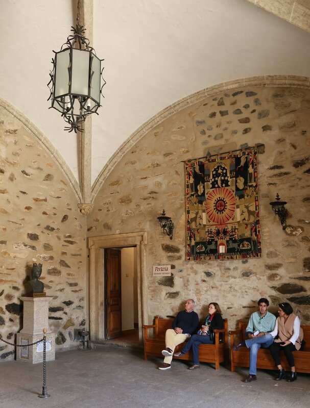 Royal monastery in Guadalupe. Interiors