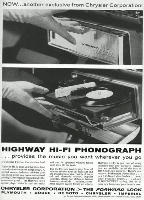 Могли себе такое представить. В 1956 году в автомобилях Chrysler, Desoto, Dodge и Plymouth предлагал