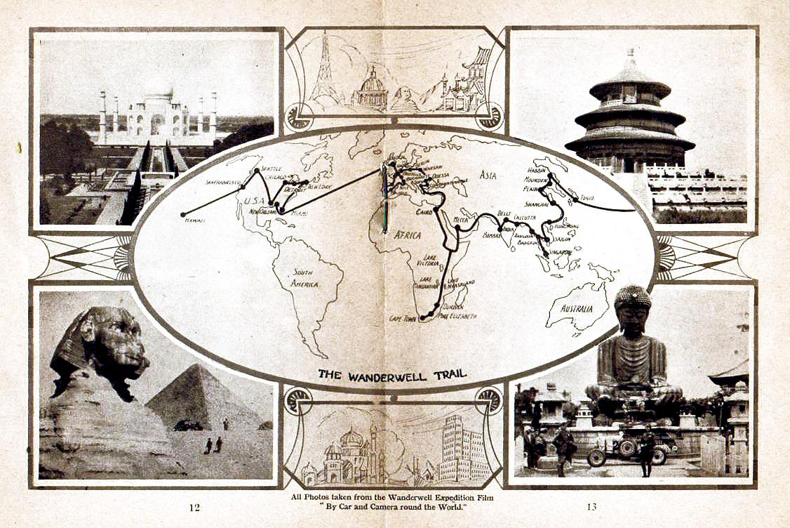 План первого путешествия.