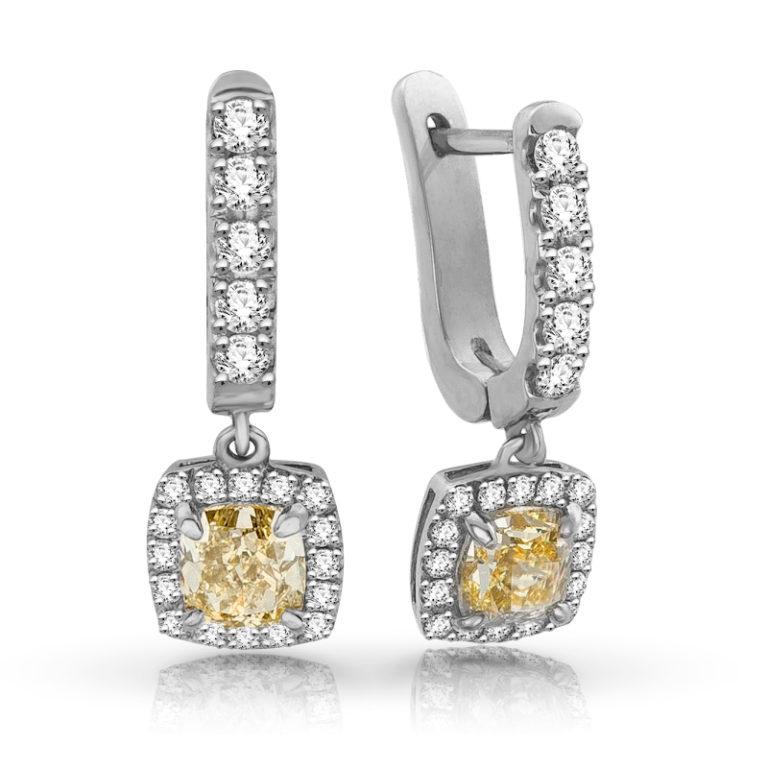 Серьги с бриллиантами. Особые качества (1 фото)
