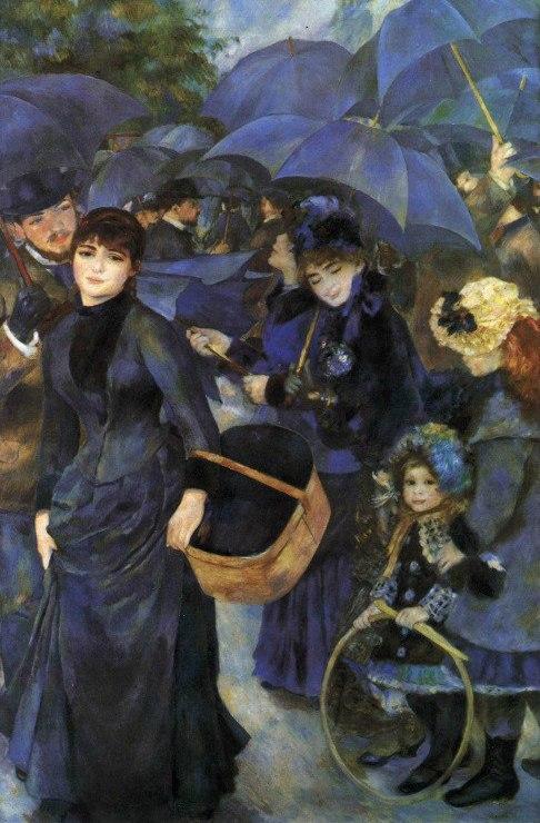 Многообразие оттенков синего в живописи Пьера-Огюст Ренуара