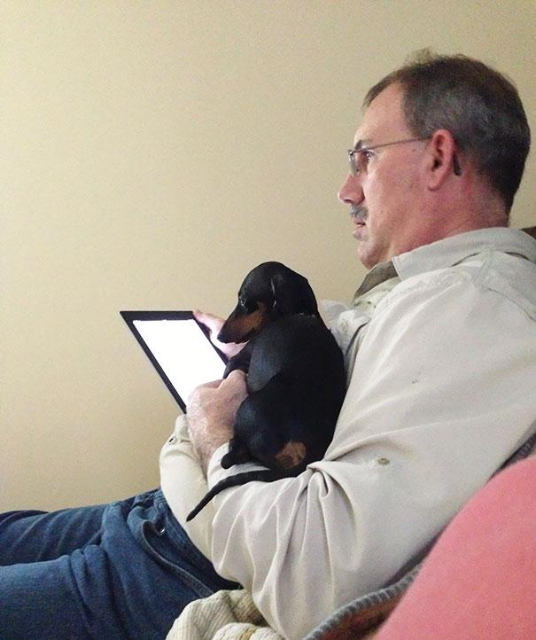 «Мой папа говорил, что не хочет ни iPad, ни собаку».